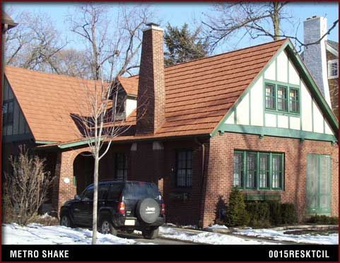 This Brick Home Has A Beautiful Red Metal Roof From Arrowline/Edco. Metro  Shake