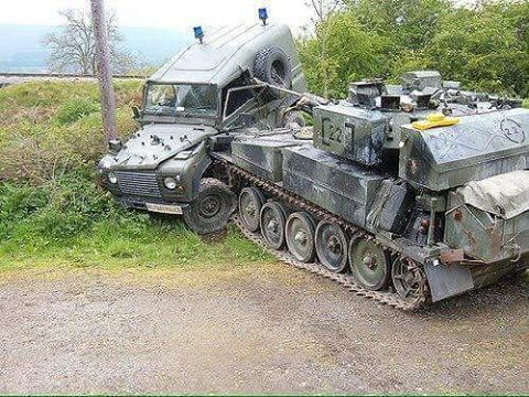 The following day the tank was declared a write off! #rustinpeacelr