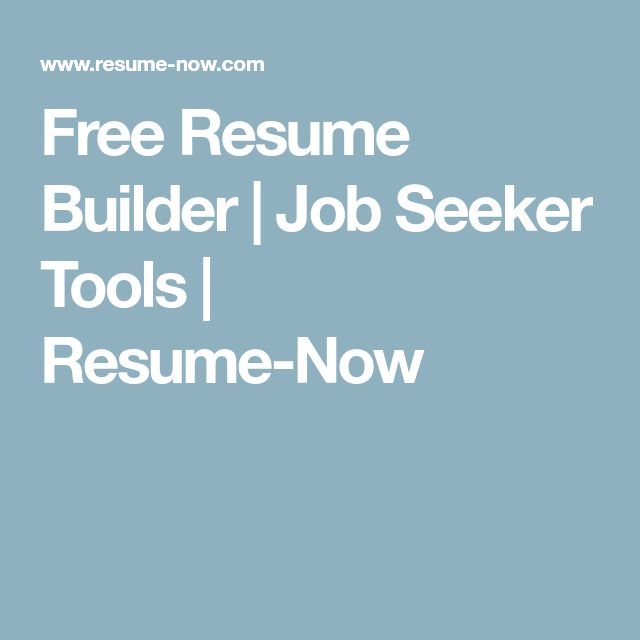 Best 25+ Free resume builder ideas on Pinterest Resume builder - resume now free