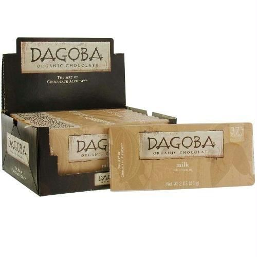 Dagoba Chocolate Milk Chocolate Bar 37% (12x2 Oz)