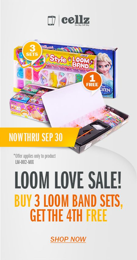 Loom Bands Craze ! Get your FREE LoomBand Set from Cellz.com #loomband #free #discount #promo #giveaway #famous #fashion #cellz