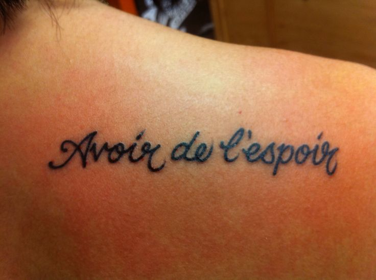 French love quotes tattoos for French quote tattoos