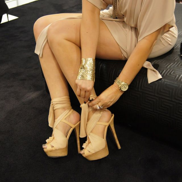 Gold & Fendi High Heel Sandals: Outfits, Heels Sandals, Style, Nude Heels, High Heels, Accessories, Big Girls, Girls Shoes, Fendi Heels