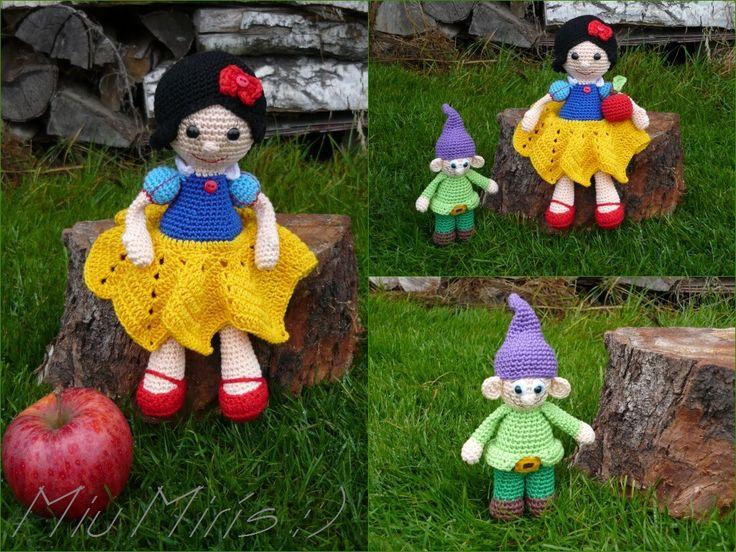 Crochet snow white... <3 ...amigurumi crochet...