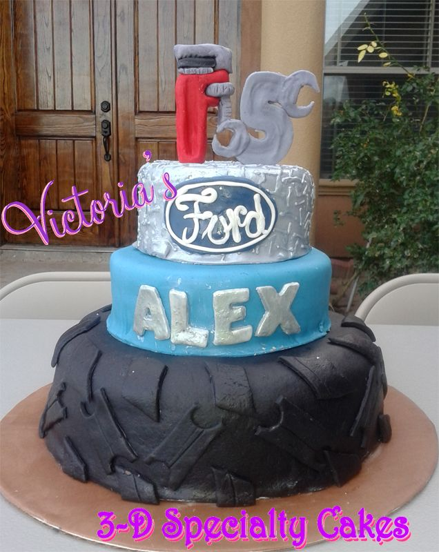 Boys cake, Teen boy cake, tools ford cake