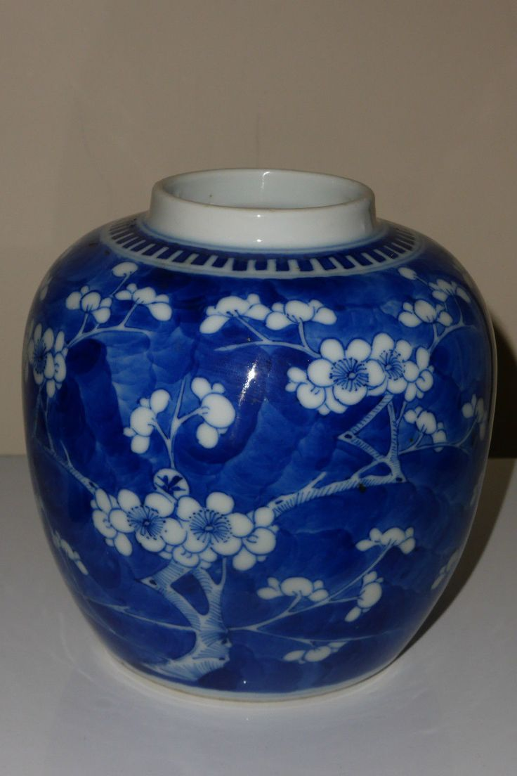 9 best chinese porcelain and pottery sold by olena walker lass chinese blue white ginger jar vase blossoming prunus kangxi 4 seal mark reviewsmspy