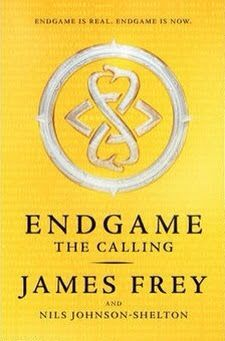 Review of Endgame: The Calling by James Frey   Endgame: The Calling  by James Frey and Nils Johnson-Shelton  Paperback 465 pages  Published October 8th 2014 by Harper Collins   Blurb:  Twelve thousand years ago they came. They descended from the sky amid smoke and fire and created humanity and gave us rules to live by. They needed gold and they built our earliest civilizations to mine it for them. When they had what they needed they left. But before they left they told us someday they would…
