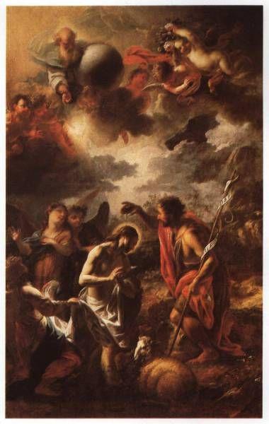 Petr Brandl - Křest Kristův, Manětín - Kostel sv. Jana Křtitele, 1715-16