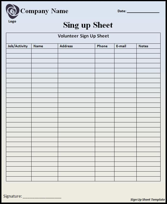 Best 25+ Sign in sheet template ideas on Pinterest Sign in sheet - food sign up sheet template