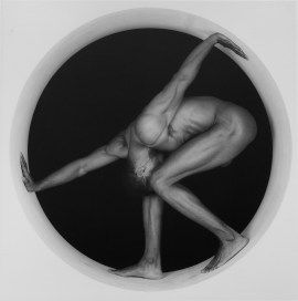 Robert Mapplethorpe, Thomas, 1987. Gelatin silver print, 18 7/8 x 18 7/8 inches (47.9 x 47.9 cm)