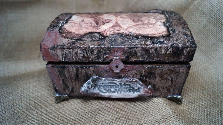 Decoupage Tutorial on Wooden Box - Ντεκουπάζ σε Ξύλινο Κουτί - Diy Step ...