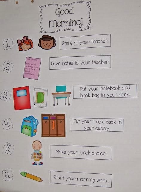 Make morning routines simpler for younger students... helps build independence.
