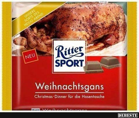 Weihnachtssprüche Sportlich.Ritter Sport Weihnachtsgans Lustige Bilder Sprüche Witze Echt