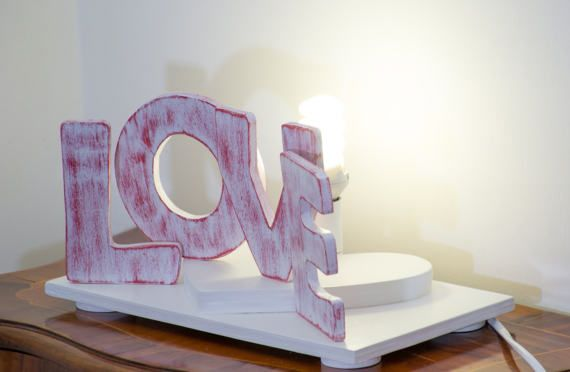 LAMPADA AMORE Lampada Decorativa San Valentino Abat Jour