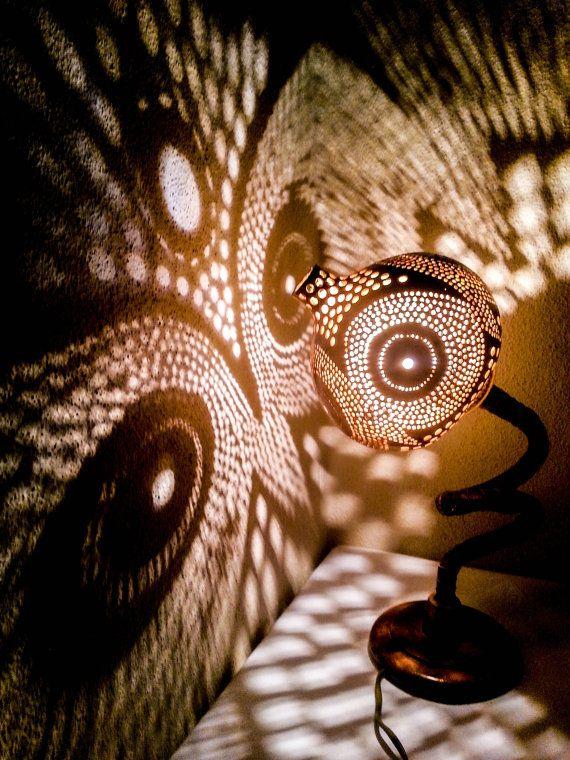100% HANDMADE Gourd lamp Kürbislampe lampa de zucca Ottoman