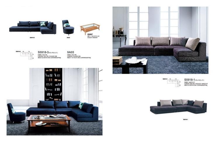 That navy sofa set