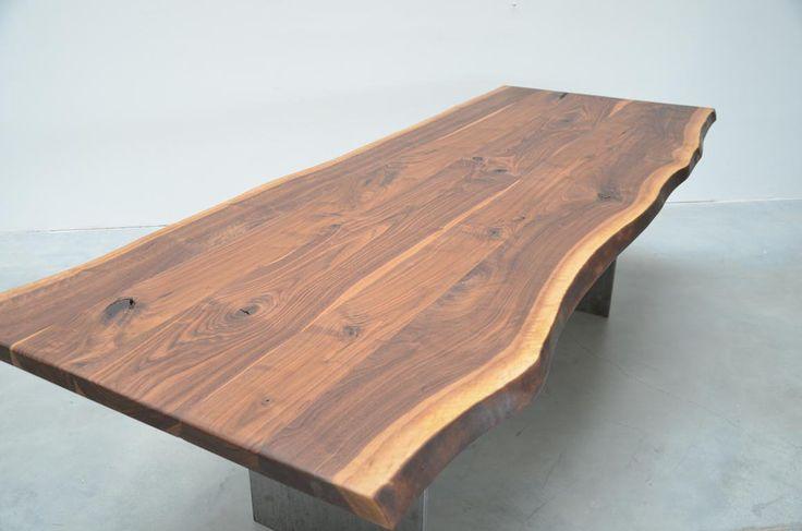 Tischplatte Nussbaum Breite Stammbohlen  Couchtisch