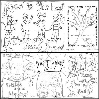 We've combined our free coloring pages for Father's day