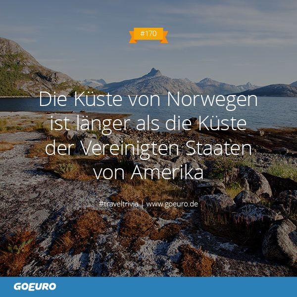 #TravelTrivia: Die Küste von #Norwegen ist länger als die Küste der Vereinigten Staaten von #Amerika