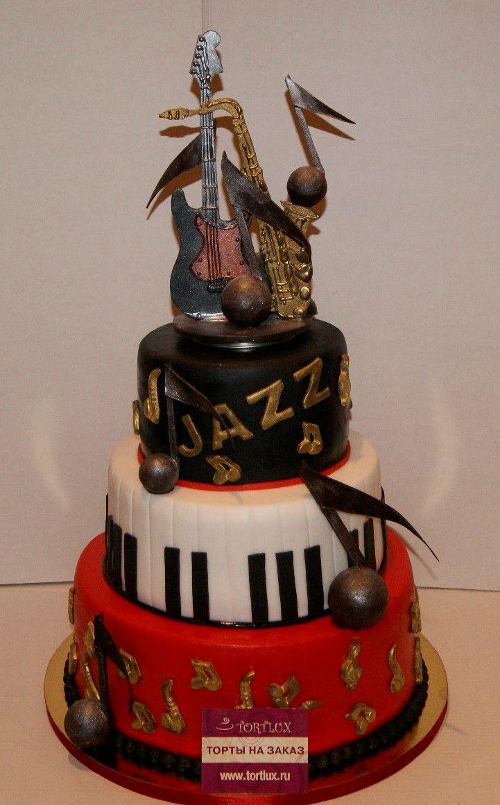 Корпоративный торт в стиле Джаз.Вес 20 кг.