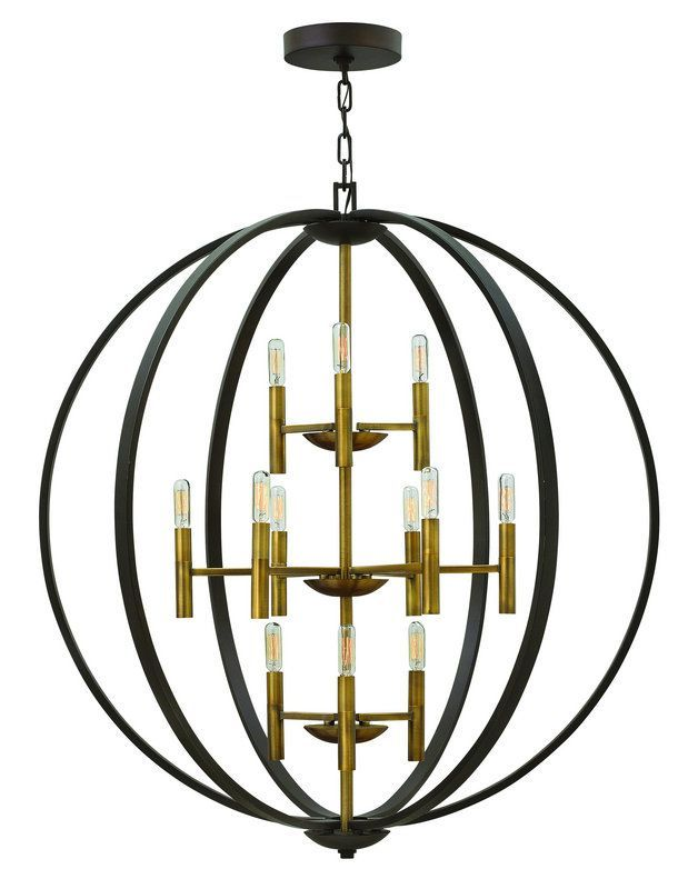 View the Hinkley Lighting 3469 12 Light Large Foyer Pendant from the Euclid Collection at LightingDirect.com.