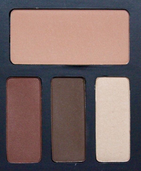 NEW! THE GLAMOROUS GLEAM REVIEW OF THE NEW Kat Von D Shade + Light Eye Contour Palette & Brush! Here is the Warm Quad containing Ludwin (base), Succubus (contour), Sytry (define), Latinus (highlight)