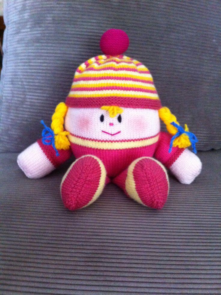 My Hand Knit - Pink Humpty Dumpty #JeanGreenhowePattern