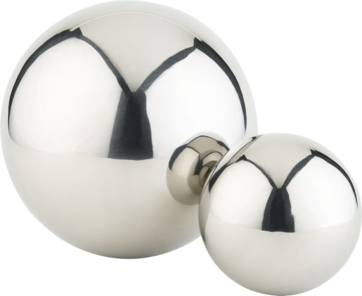 stainless steel balls in all accessories | CB2