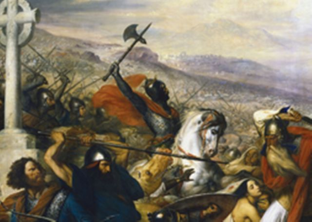 "The Victor of Tours: Charles Martel: The Battle of Tours, by Charles de Steuben, 1837; We all need to know who "" Charles Martel "" was and what he did for or to us ( Born August 23, 686 ) he was the son of Pippin the Middle and his mistress Alpaida."