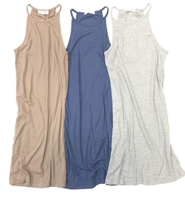 Say {hello} to our NEW favorite ribbed high neck tank top dress! ➾You'll want to layer these with everything. $28 Sizes S, M & L // Grab yours in stores today! Call to order 360.716.2982 • We Ship!! #shophoitytoity