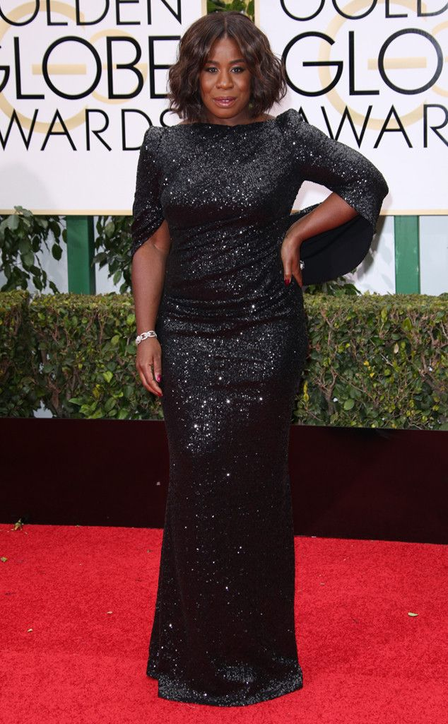 Uzo Aduba from 2016 Golden Globes Red Carpet Arrivals  In Talbot Runhof