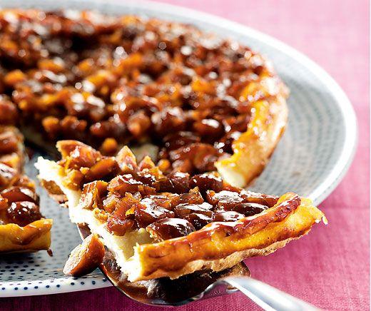 Kastanien-Tarte: 15 Minuten zubereiten plus 20 MInuten backen - schneller zaubert ihr keine Herbstköstlichkeit auf den Tisch! #Rezept #Backparardies #Tarte