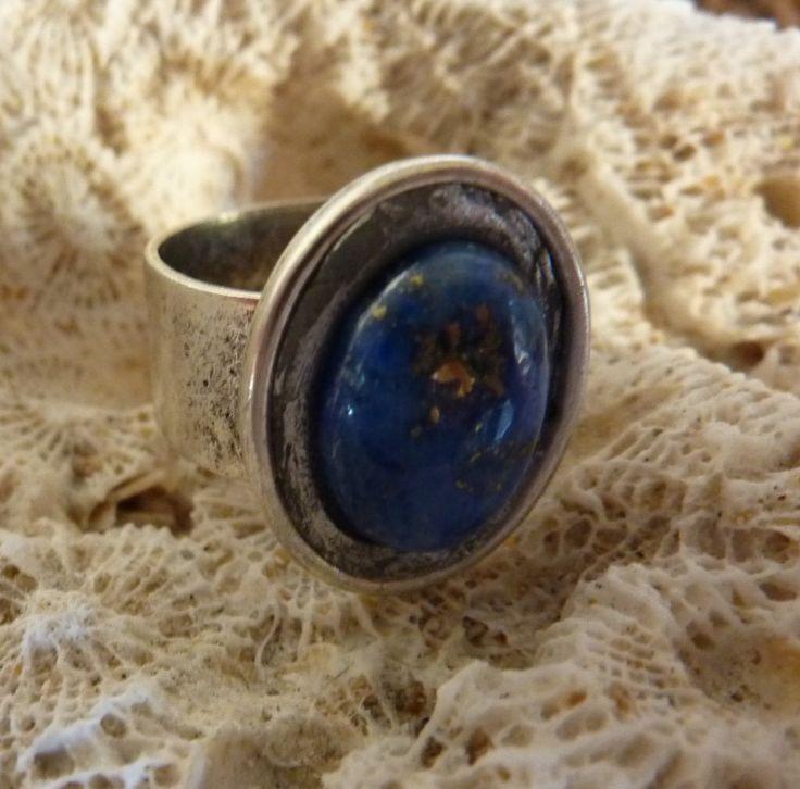 Lapis Lazuli Ring - handmade crystal energy gemstone jewellery Earth Jewel Creations Australia