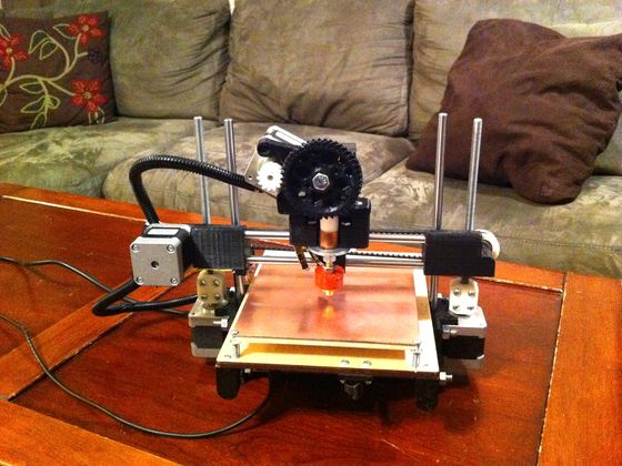 This is a very simple, elegant 3D printer design. Much like a Reprap or Makerbot I'd love to print and make my own when the files are released. Go to the site to buy your own. This is CHEAP.
