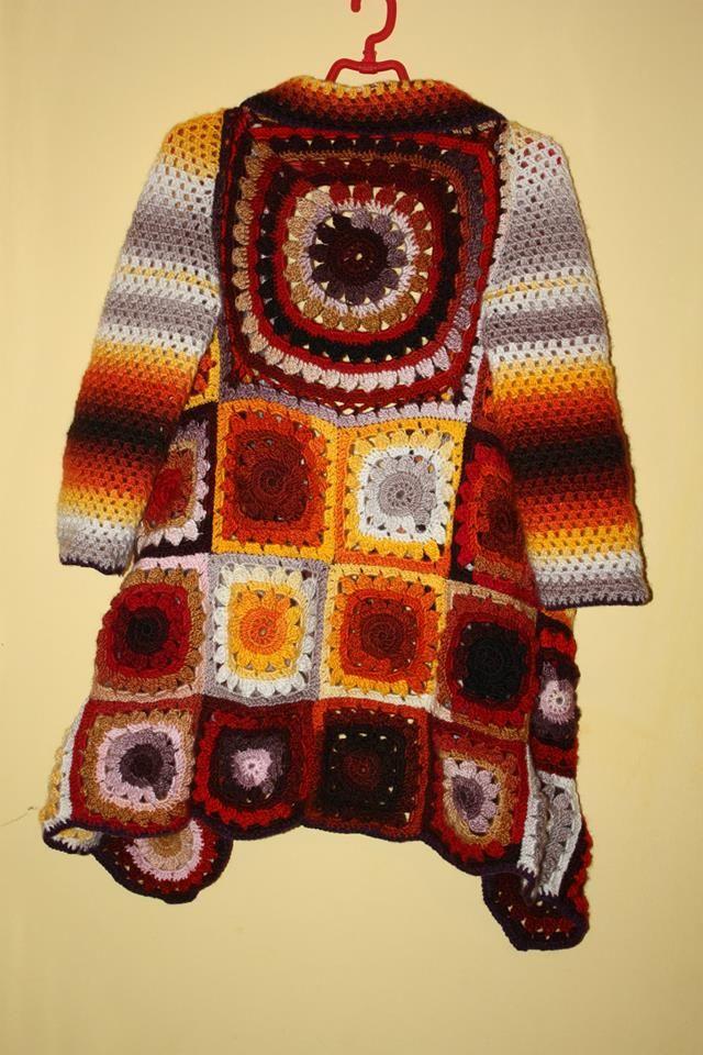 long crocheted jacket