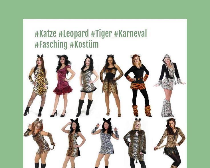 katze leopard tiger karneval fasching kost m. Black Bedroom Furniture Sets. Home Design Ideas