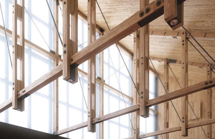 chapel of Helsinki University of Technology, designed by Heikki & Kaija Siren, Finland / render by Ville Riikonen