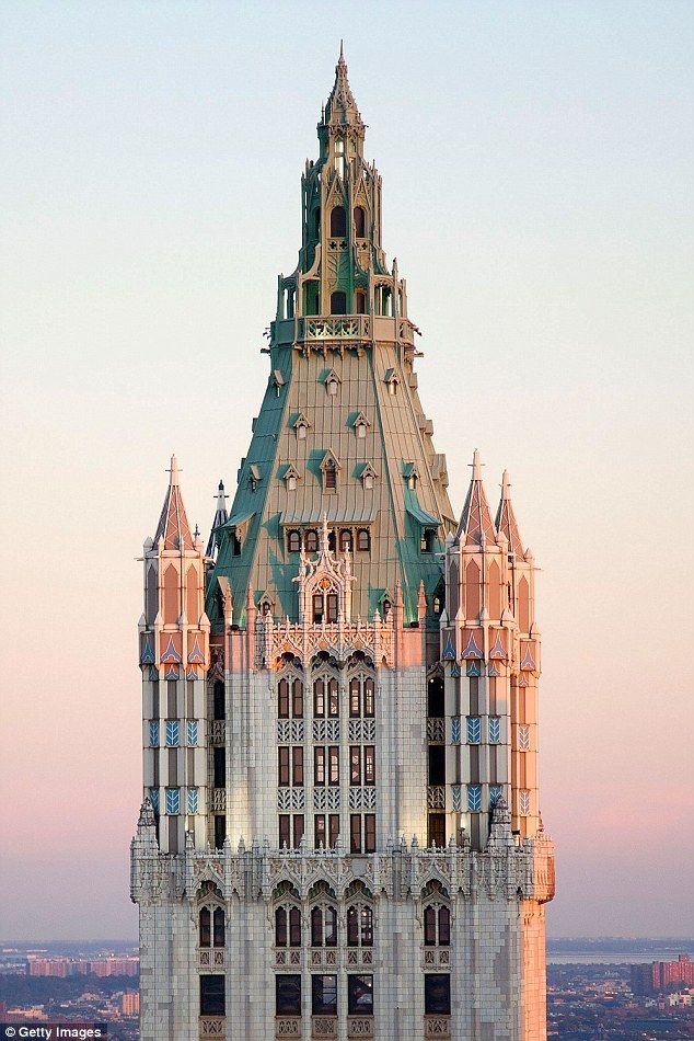View from the top: The penthouse of Manhattan's historic Woolworth Building is currently on the market with a listing price of $110million