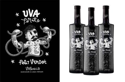 illustration - Coté Escrivá - The Mushroom Company - design, naming, lettering and label for wine brand