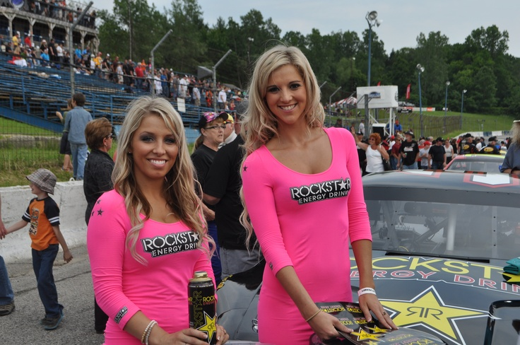 Rockstar girls in the house at Delaware Speedway