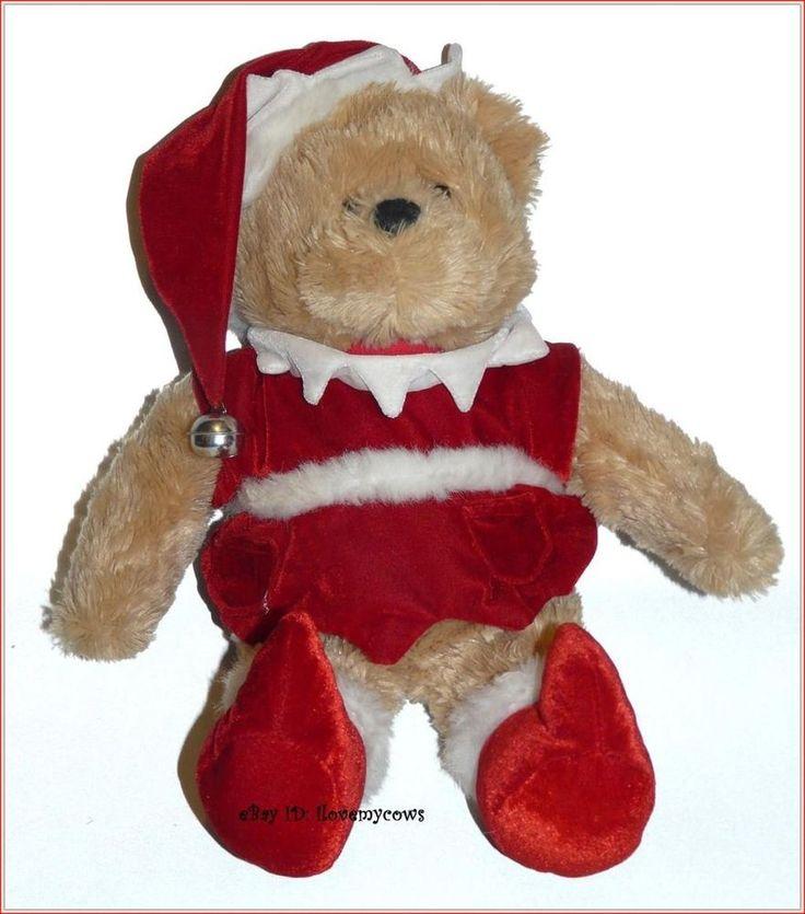 """Dan Dee DanDee Santa Elf Teddy Bear Plush 18"""" Velvet"""