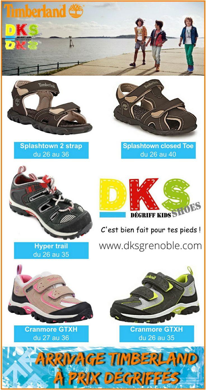 Arrivage de chaussures enfant TIMBERLAND fille et garçon à prix dégriffé du 26 au 40.  DKS Degriff Kids Shoes #chaussures dégriffées pour #enfant à #Grenoble.  www.dksgrenoble.com