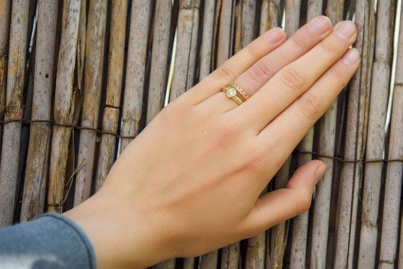 Wedding Ring SetUnique Wedding Ring SetDiamond by mbfjewelry