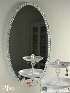 Crafts For Teenage Girls glass bead trimmed mirror