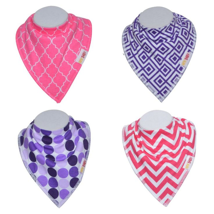 Bandana Bibs  These stylish bibs come in four unique patterns. The front of our bibs are made with 100% soft organic cotton and are backed by 100% polyester fleece which makes our bibs super absorbent. Their extra inner lip avoid those unwanted dribbles from seeping down and onto clothing eliminating the need to pack multiple outfits. #bibs #bandanabibs #baby #stylish