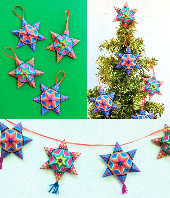 4 fun and easy to make mexican paper craft decorations! Video ...