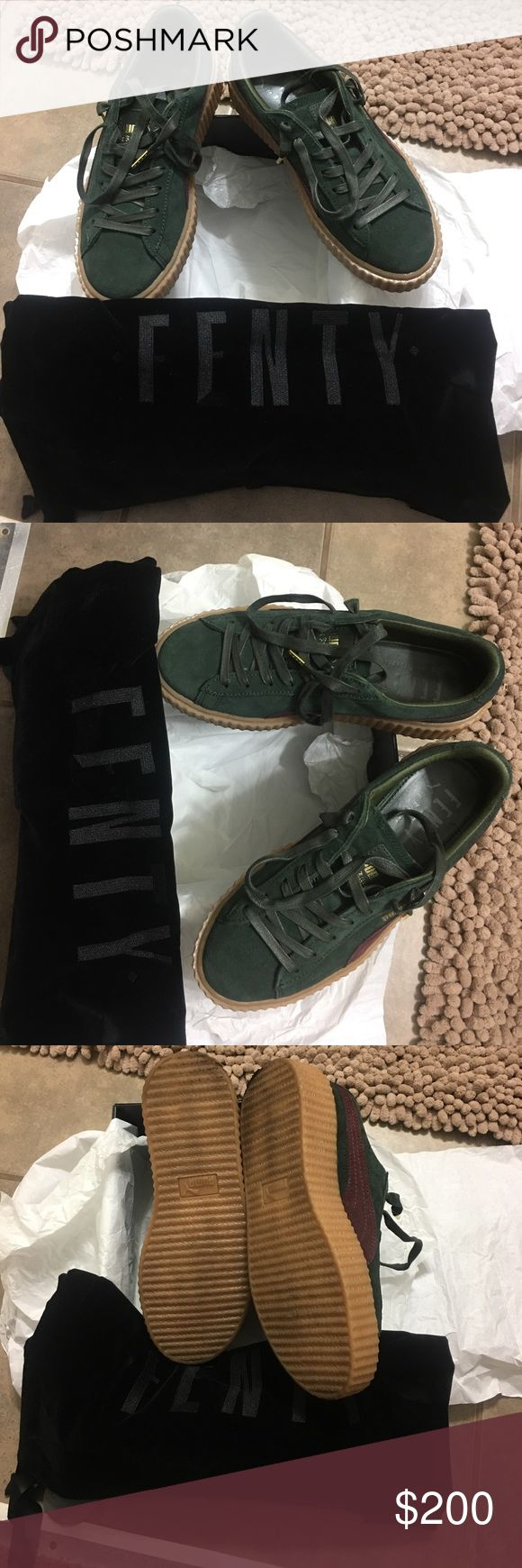 Puma Suede Creepers by Rihanna Rihanna Suede Creepers price is firm no trades only wore once. Receipt available Puma Shoes Athletic Shoes
