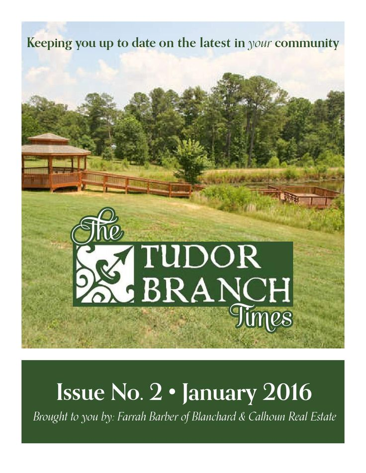 Tudor Branch Newsletter January 2016 Branches Marketing
