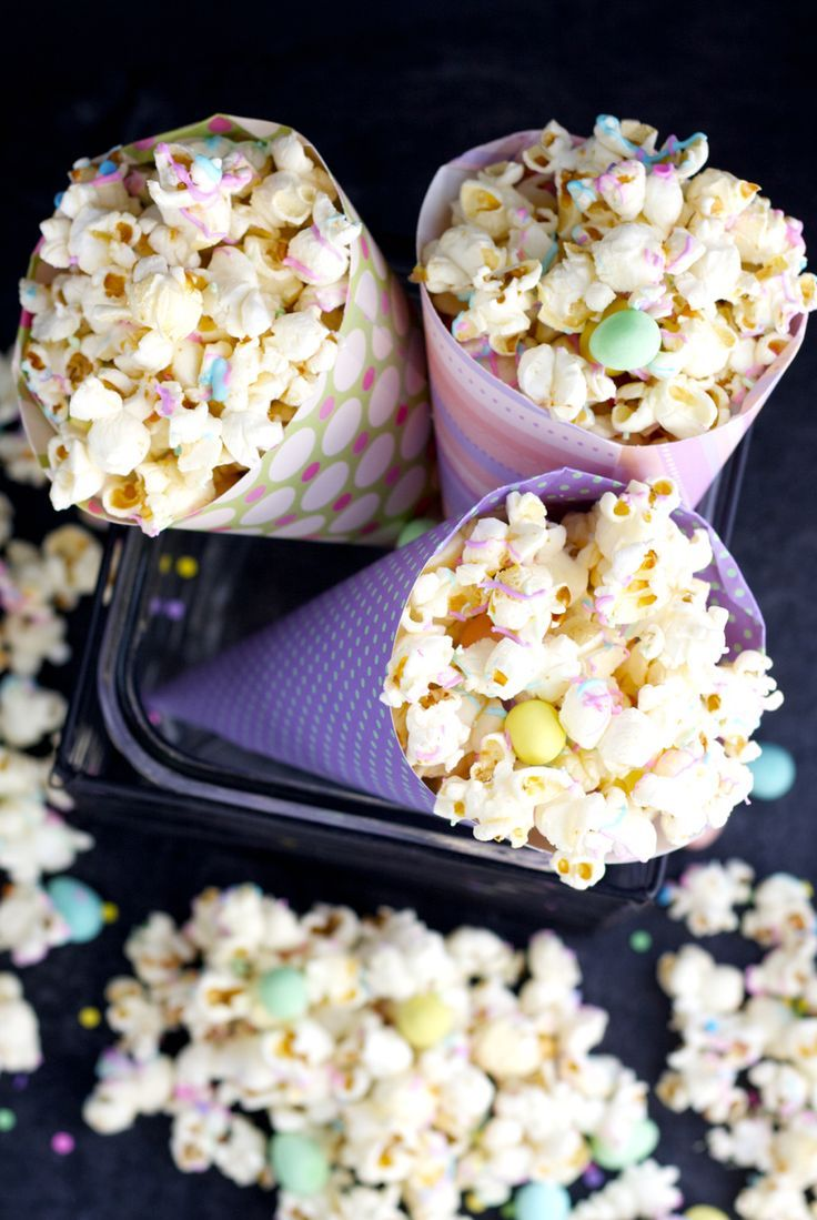 273 best creative popcorn recipes images on pinterest popcorn easter popcorn bright and colourful easter popcorn tossed with browned butter and sprinkled with coloured negle Gallery