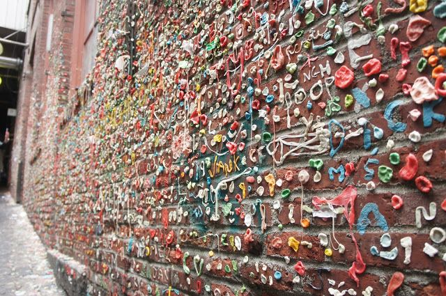The Gum Wall! Seattle, Washington, USA.